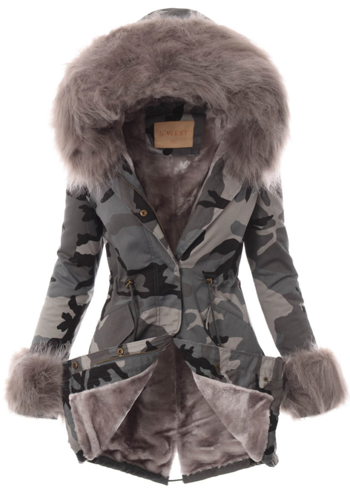 modna kurtka długa damska zimowa